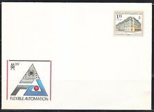 Germany DDR 1989 mint cover with original stamp.Architecture.Handelshof