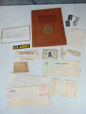 Vintage Military Portfolio Personal Documents Identification Cards Tags JACKSON