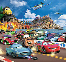 CARS 2 Children Photo wall paper 210 x 200cm Wallpaper Room Poster McQueen