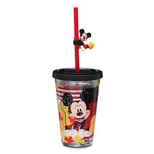 Disney Store MICKEY MOUSE Travel Tumbler Cup w/ Straw 8oz Gift NEW
