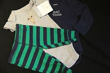Baby Boy NWT Newborn BUILT TOUGH Moose 3 pc Layette Set 100% Cotton CARTERS