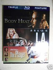 Body Heat/L.A. Confidential/The Player (Blu-ray Disc, 2012, 3-Disc) W/Slipcover