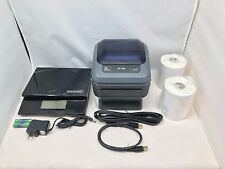 Zebra ZP450 Barcode Printer Digital Postal Scale Thermal Shipping Labels Bundle