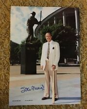 """STAN MUSIAL AUTOGRAPHED 11"""" x 15 1/2"""" Large Signed PHOTO - St Louis Cardinals"""