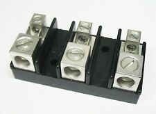 1 Power Distribution Block 3 Pole 1/0 - 14 AWG with 2-Push On Blades UL USA Made