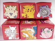 Burger King Pokemon 23K Plated Cards Pokeball RED Set of 6 W/ Bag