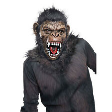 Men's Dawn Of The Planet Of The Apes Adult Deluxe Caesar Mask Fancy Dress Outfit