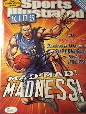 TYLER HANSBROUGH SPORTS ILLUSTRATED FOR KIDS JSA  Signed NORTH CAROLINA Auto