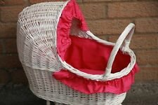 Vintage STYLE Traditional Wicker Doll Pram -HANDMADE-