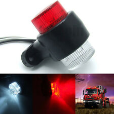1x 12V 24V 8 LED Red & White Side Marker Light Trailer Truck Lorry Caravan Lampe
