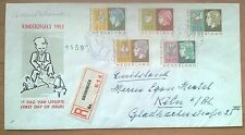 Nederland FDC E15 Kinderzegels 1953