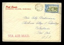 BAHAMAS 1952 PINK SANDS HOTEL LINED ENVELOPE...AIRMAIL