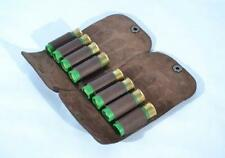 Shotgun Holder Pouch Holds 8 Shells 12 Ga Real Leather Ammo Cartridge Pouch