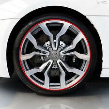 8M Red Car Rim Protector Rings Wheel Rims Sticker Tire Guard Line Rubber 3M Glue