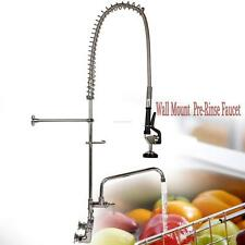 "Commercial Wall Mount Pre Rinse Faucet w/ 12"" Add On Sink Hotel Restaurant"