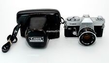 CANON PELLIX FILM CAMERA w/50mm f1.8 FL LENS!! AS-IS for PARTS!! **READ**