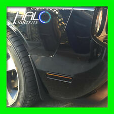 2008-2014 ORACLE DODGE CHALLENGER CONCEPT BLACK GHOSTED LED SIDE MARKERS 4PC