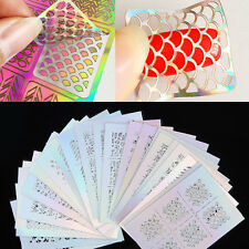 3 Sheets Ongle Stencil Pouchoir Sticker Nail Vinyls Stencil Sticker Nail Art