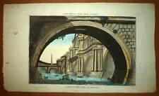 Vue d'optique EDIFICE GREC PRES D'ATHENE gravure du XVIIIeme siecle