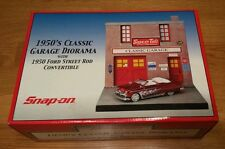 Snap On 1950s Classic Garage Diorama with 1950 Ford Street Rod Convertible