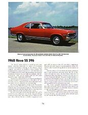 1968 Chevy Nova SS 396 Article - Must See !! - SS396
