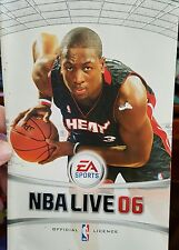 BOOKLET/MANUAL ONLY FOR NBA LIVE 06 PS2 (NO GAME)-  FREE POST