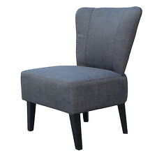 Charcoal Upholstered Accent Chair