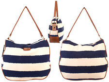 WOMEN'S  BEACH SHOPPER TOTE SHOULDER BAG CANVAS KANGOL NEW SUMMER STRIPED