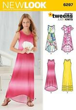 NEW LOOK SEWING PATTERN GIRLS'S JUST 4 KNITS DRESS SIZES 8 - 16 KIDS TWEENS 6297