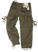 Vintage Green BDU TROUSERS - All Sizes Military Cargo Pants Fatigues SURPLUS RAW