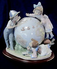 LLADRO #5847 THE VOYAGE OF COLUMBUS BNIB CHILDREN GLOBE LIMITED ED. RETIRED F/SH
