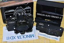 Minolta XD-11 Black Body 35mm Film Camera and Winder D