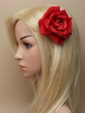 RED HEAD HAIR clip FASCINATOR 6119 HAT WEDDING RACES FLOWER ROSE BOHO