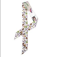 4 scarves/2 pair lady's twilly ribbon bag handle tie flower scarf S031-S035