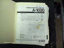 Genuine Yamaha A-1020 Integrated Amp Service Manual