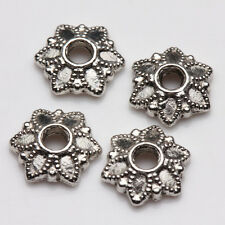 100Pcs Tibet Silver Plated Alloy Metal Spacer Bead Caps Jewelry Findings DIY 7mm