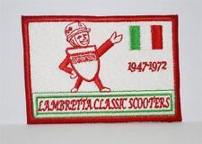 Nouveau brodé tissu badge-lambretta 50 ans -- scooter -- publicité