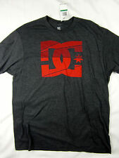 DC Shoes skate premium logo soft t shirt men's charcoal heather size XL
