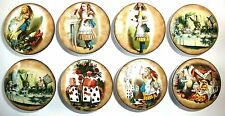 8 Vintage Alice Wonderland Wooden Dresser Bedding Cordinate Drawer Knobs Pulls