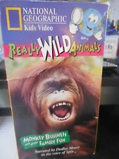 Really Wild Animals - Monkey Business and Other Family Fun (VHS, 1996)