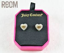 Juicy Couture Pave Heart Stud Earrings with box