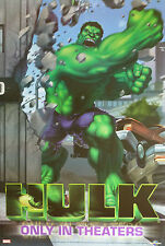 "THE INCREDIBLE HULK ""FISTS SMASHING WALL"" POSTER - Marvel Comic Book Superhero"