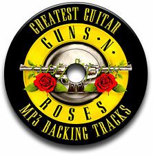 40 GUNS N ROSES & SLASH STYLE HEAVY METAL ROCK GUITAR MP3 BACKING JAM TRACKS CD