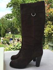 MaxMara Jana Boot Brown Suede size 41 EUR