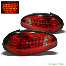 For 1997-2003 Pontiac Grand Prix LED Red Clear Tail Lights Rear Brake Lamp Pair