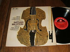 SAX 5285 SC. Bach; The Two Violin Concertos. Nathan Milstein. EX/EX Plays superb