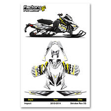 2013-2014 SKI DOO XS SNOWMOBILE GRAPHICS IMPACT STYLE BY ENJOY MFG / 137 TRACK