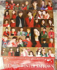 2011 SMTOWN Winter The Warmest Gift Giant Poster (TVXQ SNSD Super Junior SHINee)