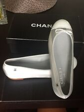Brand New With BOX 100% Authentic CHANEL Satin flats Light Blue 41 Retail $625!!