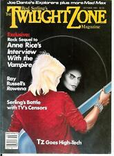 THE TWILIGHT ZONE MAGAZINE, 10/85, rare US pulp media horror mag, TZ censorship